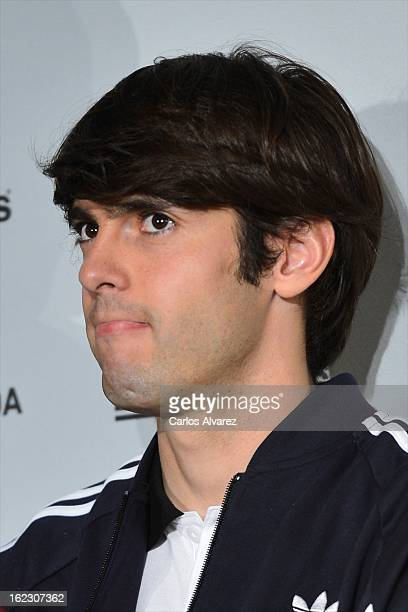 Real Madrid CF player Ricardo Kaka attends the opening of the new 'Adidas' store at the Santiago Bernabeu stadium on February 21 2013 in Madrid Spain