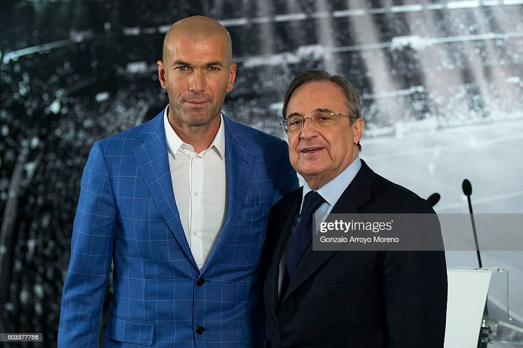 Zinedine Zidane Announced As New Real Madrid Manager : News Photo