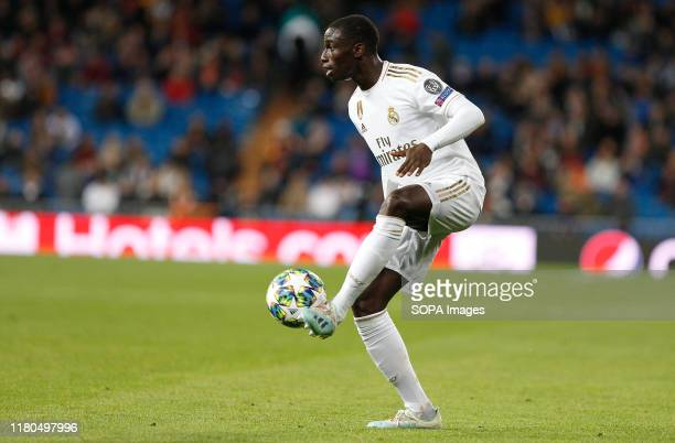 Real Madrid CF's Ferland Mendy seen in action during the UEFA Champions League match between Real Madrid and Galatasaray SK at the Santiago Bernabeu...