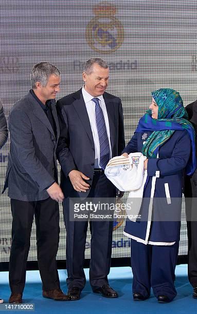 Real Madrid coach Jose Mourinho Representative of the government of the United Arab Emirates Ras Al Khaimah Khater Massaad and United Arab Emirates...