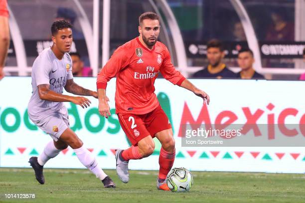 Real Madrid defender Daniel Carvajal during the second half of the International Champions Cup game between Real Madrid and AS Roma on August 7 at...