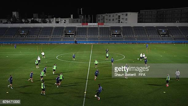 Real Madrid during a training session at Mitsuzawa Football Stadium on December 13, 2016 in Yokohama, Japan.
