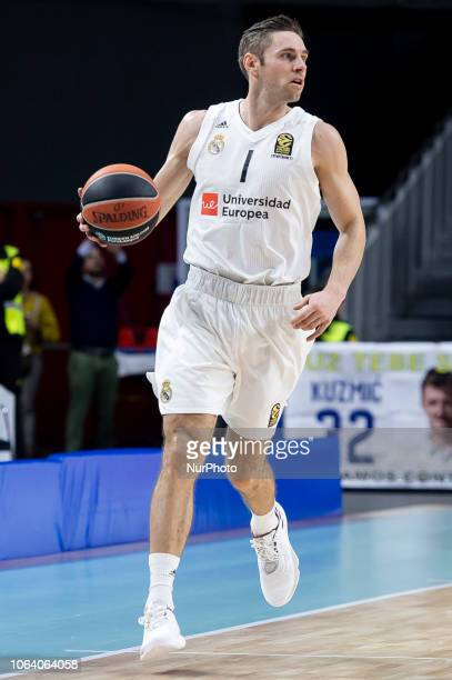 Real Madrid Fabien Causeur during Turkish Airlines Euroleague match between Real Madrid and Herbalife Gran Canaria at WiZink Center in Madrid 20...