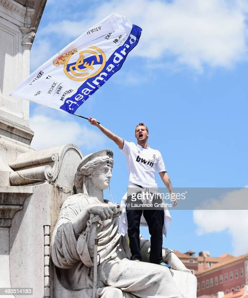 Real Madrid fans gather in the city prior to the UEFA Champions League Final between Real Madrid and Atletico Madrid at Estadio da Luz on May 24 2014...