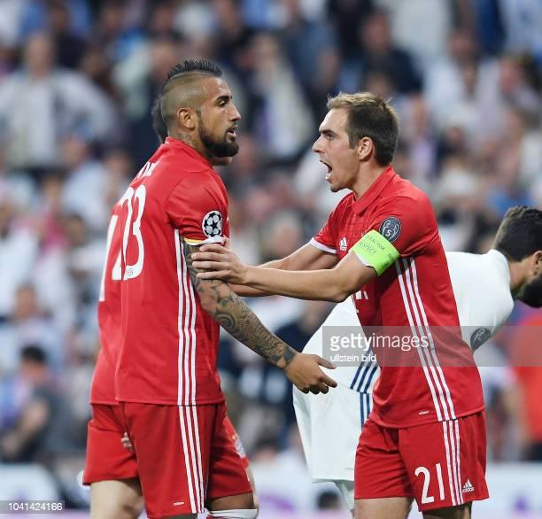 Real Madrid FC Bayern Muenchen Philipp Lahm und Arturo Vidal