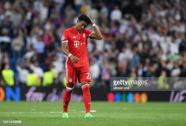 Real Madrid FC Bayern Muenchen Enttaeuschung FC Bayern David Alaba
