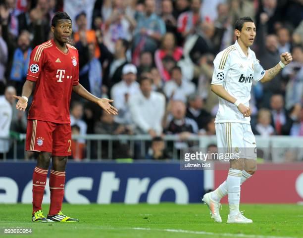 FUSSBALL CHAMPIONS Real Madrid FC Bayern Muenchen Handspiel von David Alaba gegen Angel Di Maria Égelb und gesperrt fürs finaleÉelfmeter Cristiano...