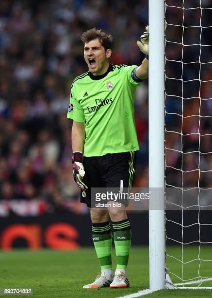 FUSSBALL CHAMPIONS Real Madrid FC Bayern Muenchen Torwart Iker Casillas
