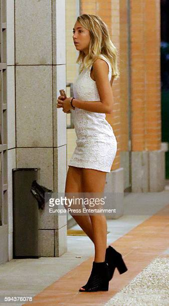 Real Madrid football player Alvaro Morata's girlfriend Alice Campello is seen on August 22 2016 in Madrid Spain