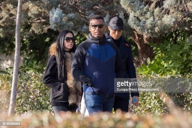 Real Madrid football player Cristiano Ronaldo and his girlfriend Georgina Rodriguez are seen picking up Cristiano Ronaldo jr from school on January...