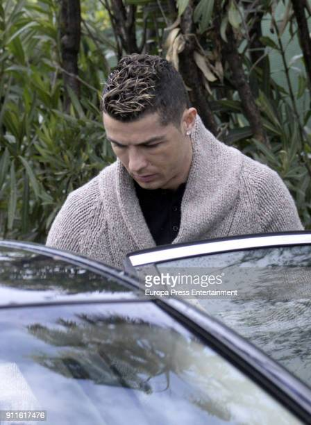 Real Madrid football player Cristiano Ronaldo is seen leaving the Marbella Beach Club The day before his girlfriend Georgina Rodriguez celebrates her...