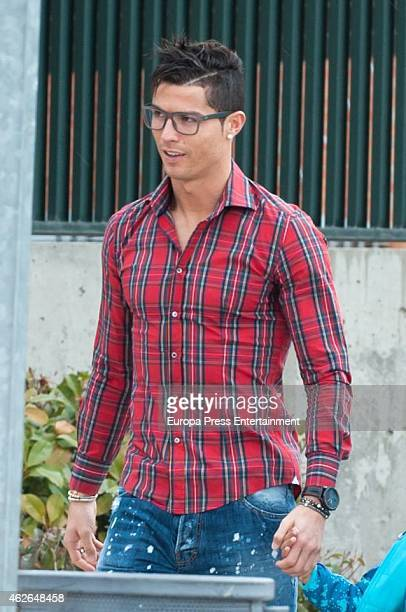 Real Madrid football player Cristiano Ronaldo is seen on January 30 2015 in Madrid Spain