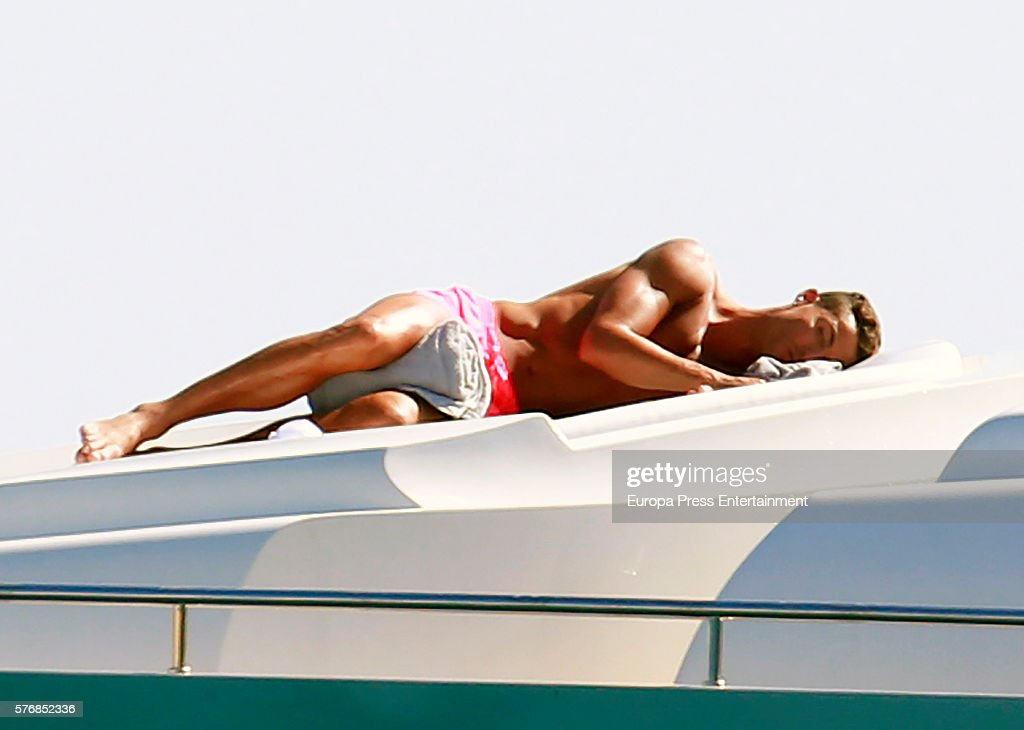 Real Madrid football player Cristiano Ronaldo is seen on July 17, 2016 in Ibiza, Spain.