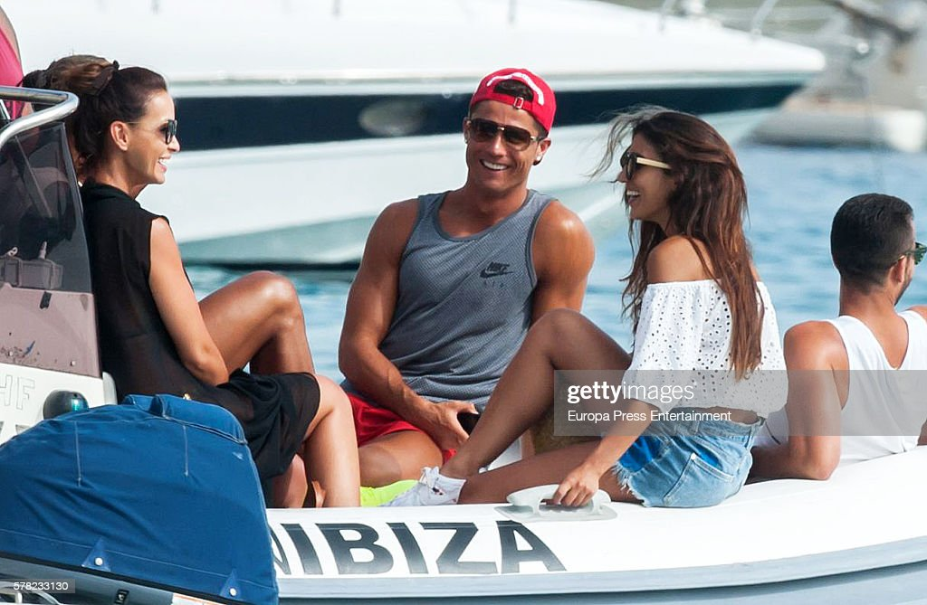 Real Madrid football player Cristiano Ronaldo is seen on July 20, 2016 in Ibiza, Spain.