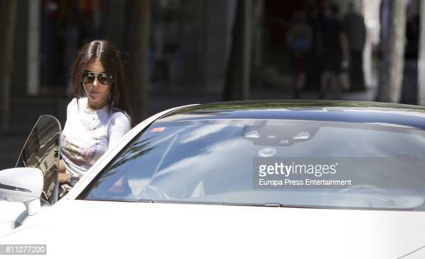 Real Madrid football player Cristiano Ronaldo picks up his girlfriend Georgina Rodriguez on June 1 2017 in Madrid Spain