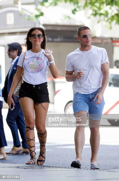 Real Madrid football player Cristiano Ronaldo's girlfriend Georgina Rodriguez is seen on June 1 2017 in Madrid Spain