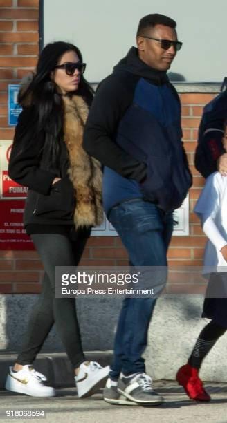 Real Madrid football player Cristiano Ronaldo's girlfriend Georgina Rodriguez is seen picking up Cristiano Ronaldo jr from school on January 31 2018...