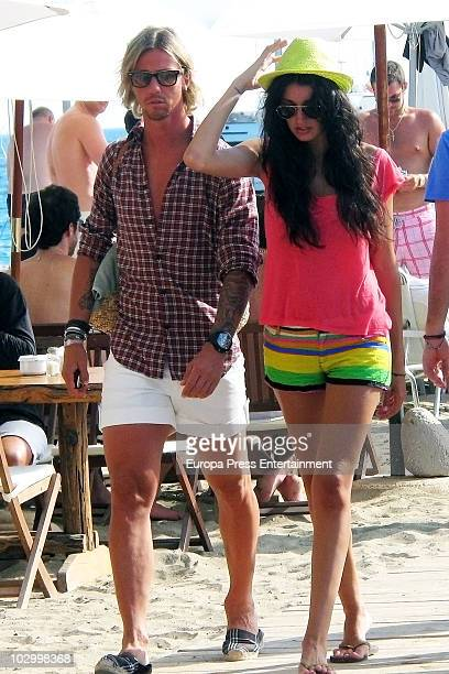 Real Madrid football player Guti sighted with model Noelia Lopez on July 20 2010 in Ibiza Spain