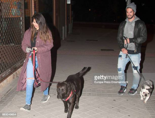 Real Madrid football player Isco Alarcon and Sara Salamo are seen on November 16 2017 in Madrid Spain