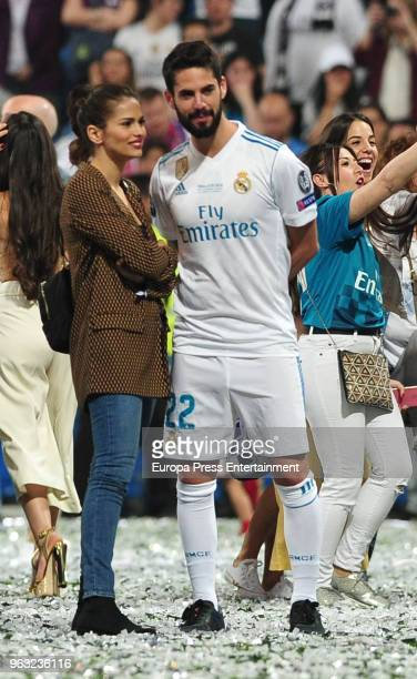 Real Madrid football player Isco Alarcon and Sara Salamo during the Real Madrid team celebration after winning their 13th European Cup on May 27 2018...
