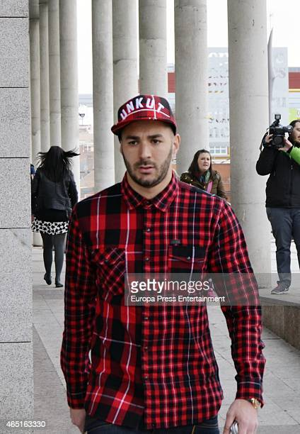 Real Madrid football player Karim Benzema attends court on March 03 2015 in Madrid Spain