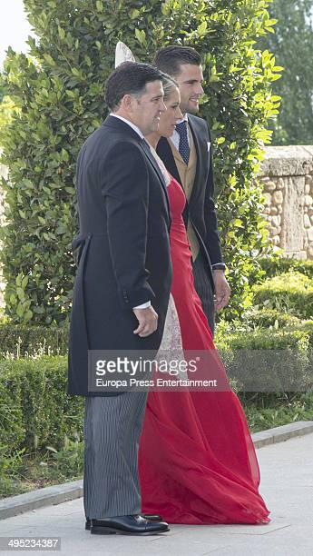 Real Madrid Football Player Nacho Fernandez and relatives attend his wedding on May 31 2014 in Madrid Spain