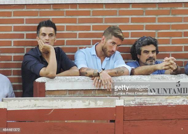 Real Madrid football player Sergio Ramos attends a bullfighting event on August 30 2014 in San Sebastian de los Reyes Spain
