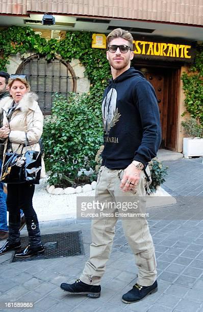 Real Madrid football player Sergio Ramos is seen on January 29 2013 in Madrid Spain