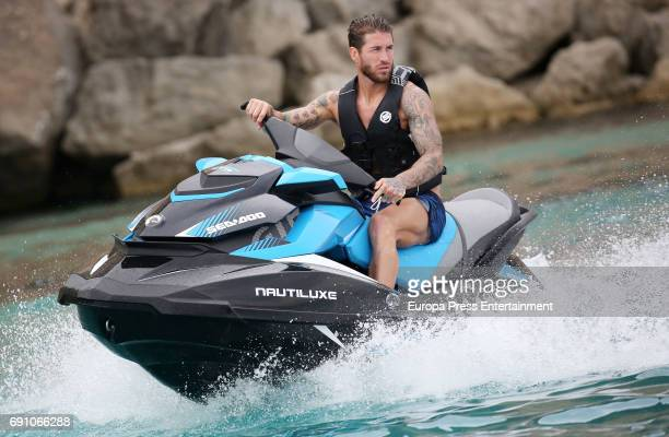 Real Madrid football player Sergio Ramos is seen on May 29, 2017 in Ibiza, Spain.