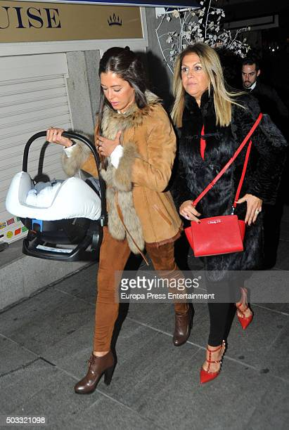 Real Madrid football player Sergio Ramos's sister Miriam Ramos and mother Paqui Garcia are seen celebrating Jose Maria Ramos's birthday on December 9...