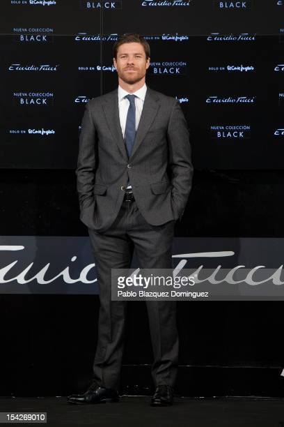 Real Madrid football player Xabi Alonso presents Black Collection by Emidio Tucci on October 17 2012 in Madrid Spain