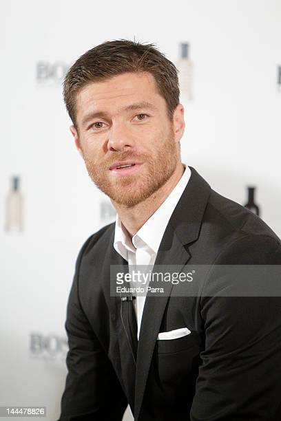 Real Madrid football player Xabi Alonso presents 'Success Beyond The Game' By Hugo Boss at Villamagna Hotel on May 14, 2012 in Madrid, Spain.