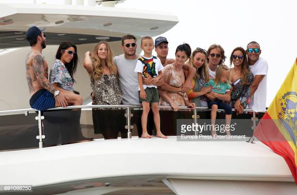 Real Madrid football players Sergio Ramos and Pilar Rubio Izabel Andrijanic and Mateo Kovacic Lucas Vazquez and Macarena Rodriguez Vanja Bosnic...