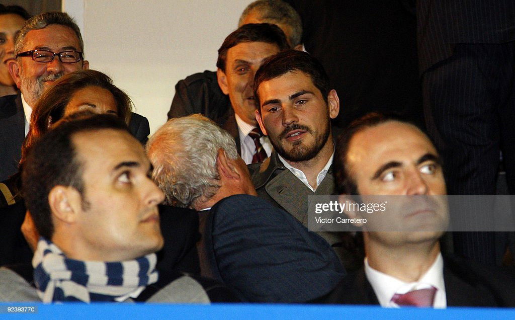 Real Madrid goalkeeper Iker Casillas looks on during the Copa del Rey match between AD Alcorcon and Real Madrid at Municipal de Santo Domingo on October 27, 2009 in Alcorcon, Spain.
