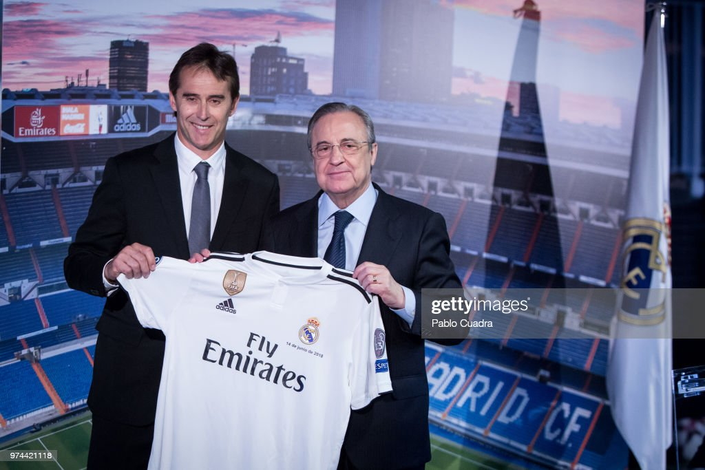 Julen Lopetegui Press Conference At Santiago Bernabeu Stadium