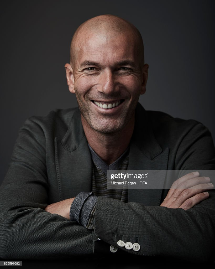 Real Madrid manager Zinedine Zidane of France poses during The Best FIFA Football Awards at The May Fair Hotel on October 23, 2017 in London, England.