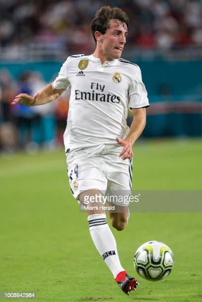 Real Madrid midfielder Alvaro Odriozola controls the ball during the second half against Manchester United during International Champions Cup action...