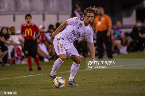 Real Madrid midfielder Luka Modric controls the ball during the International Champions Cup friendlies match between Real Madrid and Atletico de...