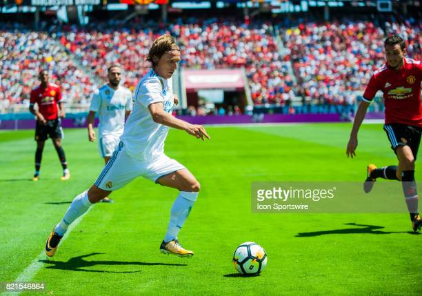 Real Madrid midfielder Luka Modric during the International Champions Cup match between Real Madrid verses Manchester United on July 23 2017 at...