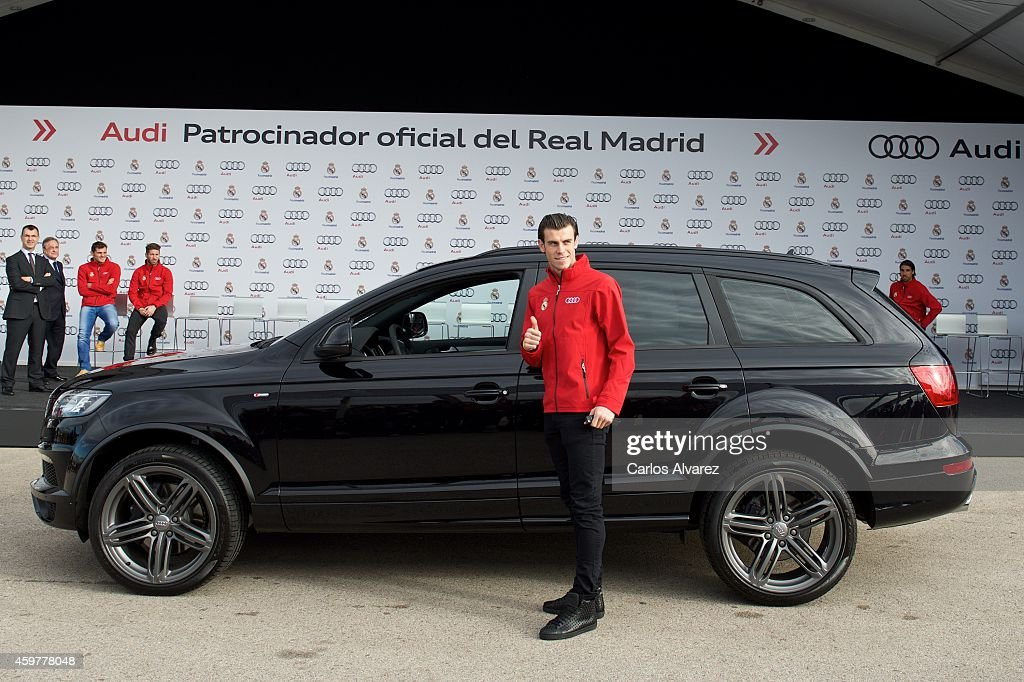Real Madrid Player Gareth Bale Receives A New Audi Q7 At The Ciudad  Deportiva Del Real