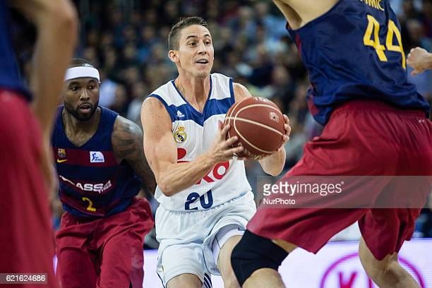 Real Madrid player Jaycee Carrol from United States in action during the Liga Endesa regular season Round between FC Barcelona vs Real Madrid at...