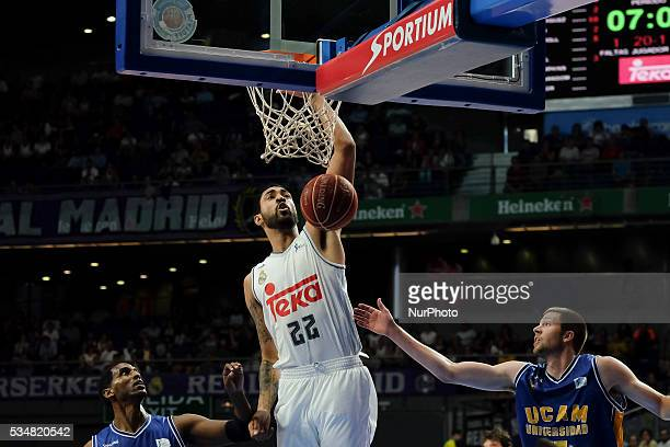Real Madrid player LIMA during the basketball game between Real Madrid vs UCAM Murcia quarterfinal playoffs of the ACB league held at the Sports...