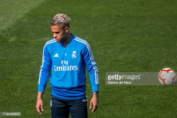 Real Madrid player Mariano Diaz Mejia during a training session ahead of La Liga match against Valencia CF