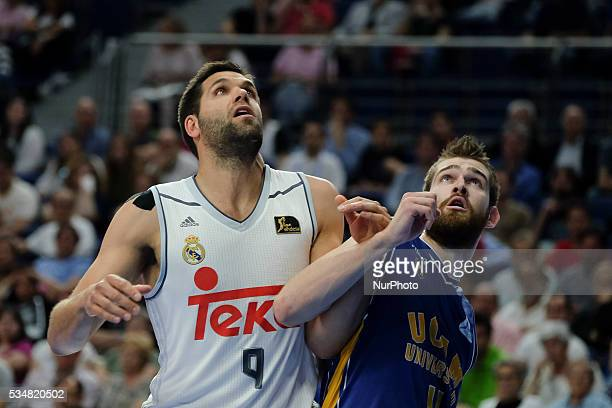 Real Madrid player of Felipe Reyes during the basketball game between Real Madrid vs UCAM Murcia quarterfinal playoffs of the ACB league held at the...
