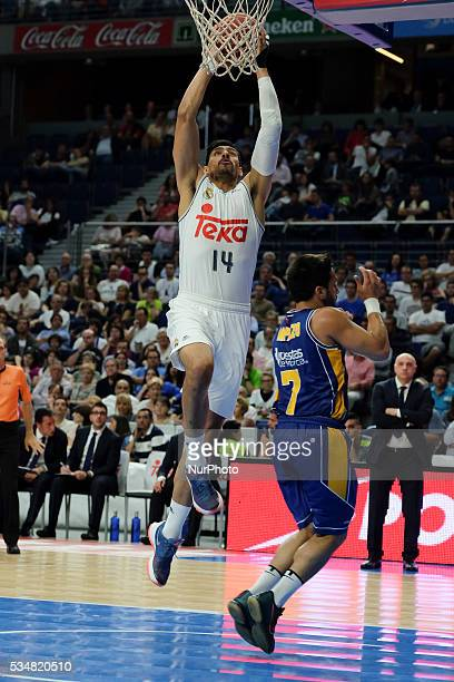 Real Madrid player of Gustavo Alfonso ayon during the basketball game between Real Madrid vs UCAM Murcia quarterfinal playoffs of the ACB league held...