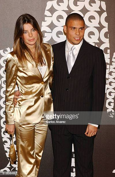 Real Madrid player Ronaldo and girlfriend Daniela Cicarelli attend the GQ Awards 2004 at Hotel Palace December 13 2004 in Madrid Spain