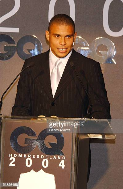 Real Madrid player Ronaldo attends the GQ Awards 2004 at Hotel Palace December 13 2004 in Madrid Spain