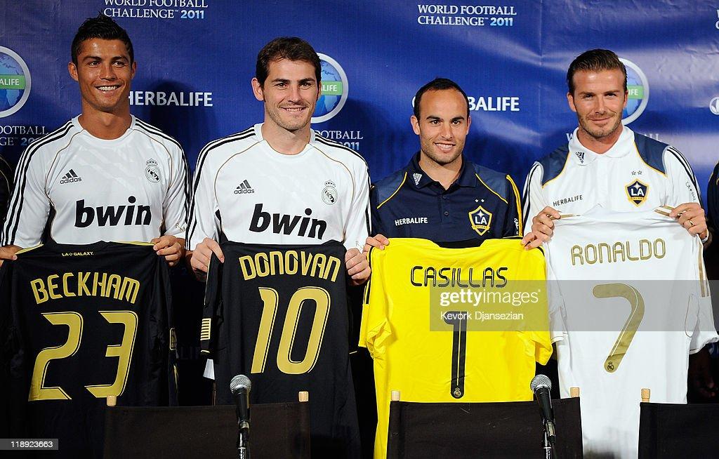 2011 World Football Challenge Press Conference : News Photo