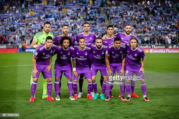 Real Madrid players during the match between RCD Espanyol vs Real Madrid for the round 4 of the Liga Santander played at RCD Espanyol Stadium on 18th...