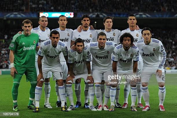 Real Madrid players Iker Casillas Pepe Alvaro Arbeloa Ricardo Carvalho Angel de Maria Sami Khedira Gonzalo Higuain Xabi Alonso Marcelo Cristiano...